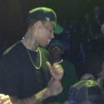 Chris Brown At His Official BET Award Afterparty At Belesco